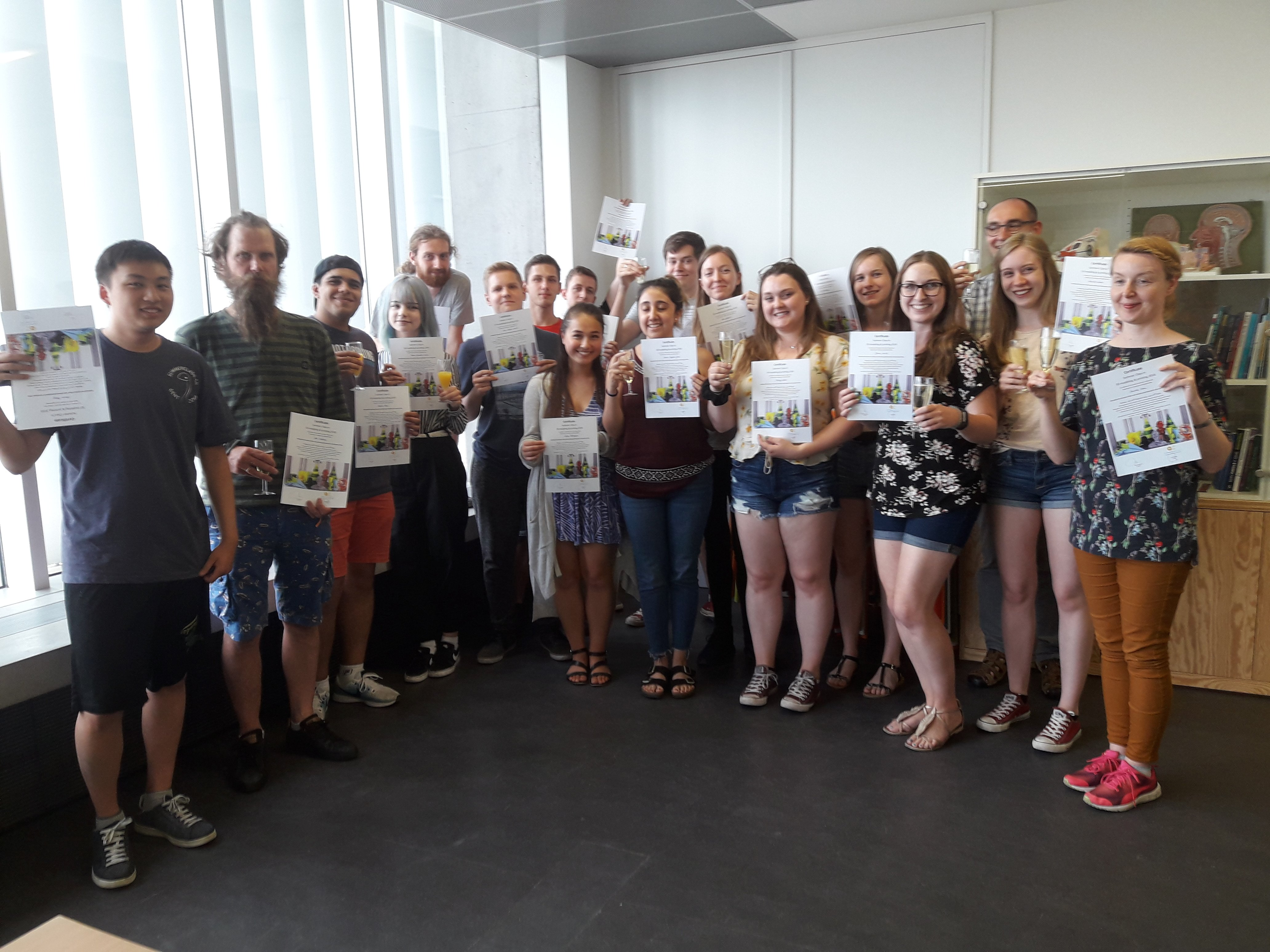 Participants receive their certificate after an intensive two weeks program - June 2018