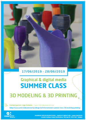 Summer Class 3D Modeling and 3D printing