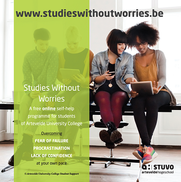Studies without Worries a free online self-help programme for students of Artevelde University of Applied Sciences